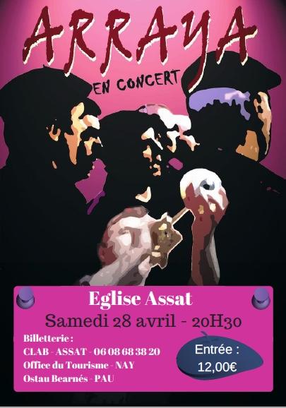 Flyer Concert Arraya 28.04.18