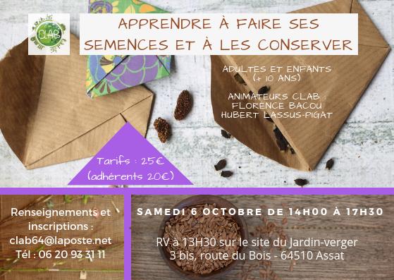 Flyer Les semences potagères 06.10.18